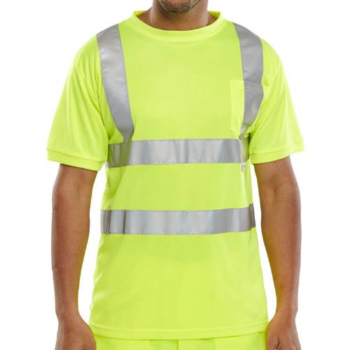 BSeen Hi Vis Yellow T-Shirt